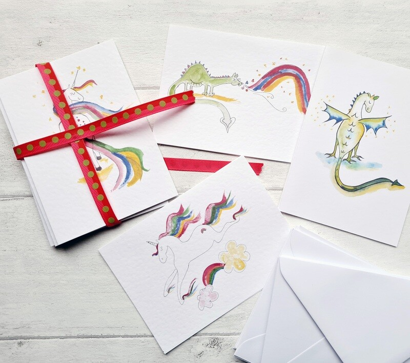 Rainbow Collection Notecards