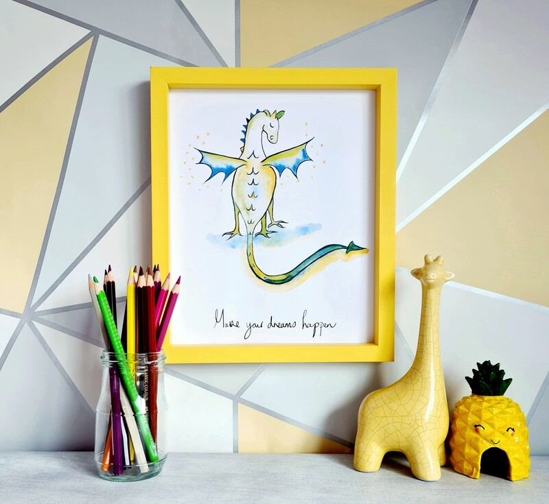 Edna The Dreamer Dragon Print