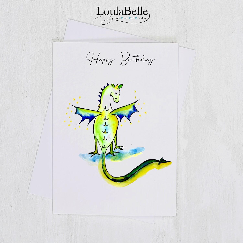 Edna the Dragon Happy Birthday Card
