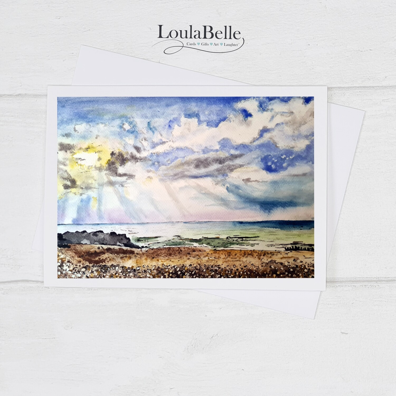 The sun will always shine, seaside card ( Worthing beach)