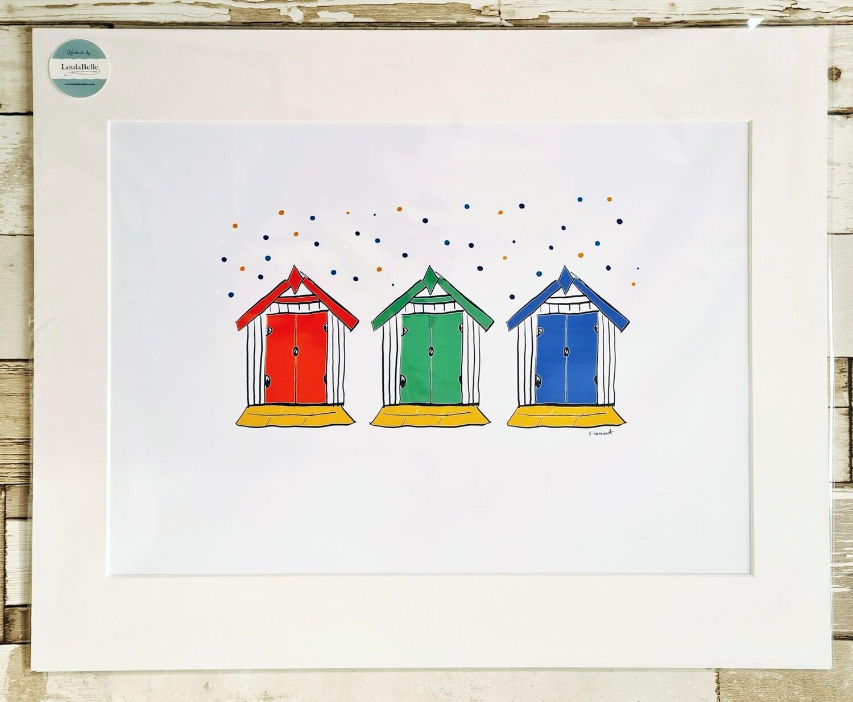 3 Little Beach Huts