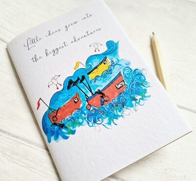 Big adventures start with the smallest ideas notebook