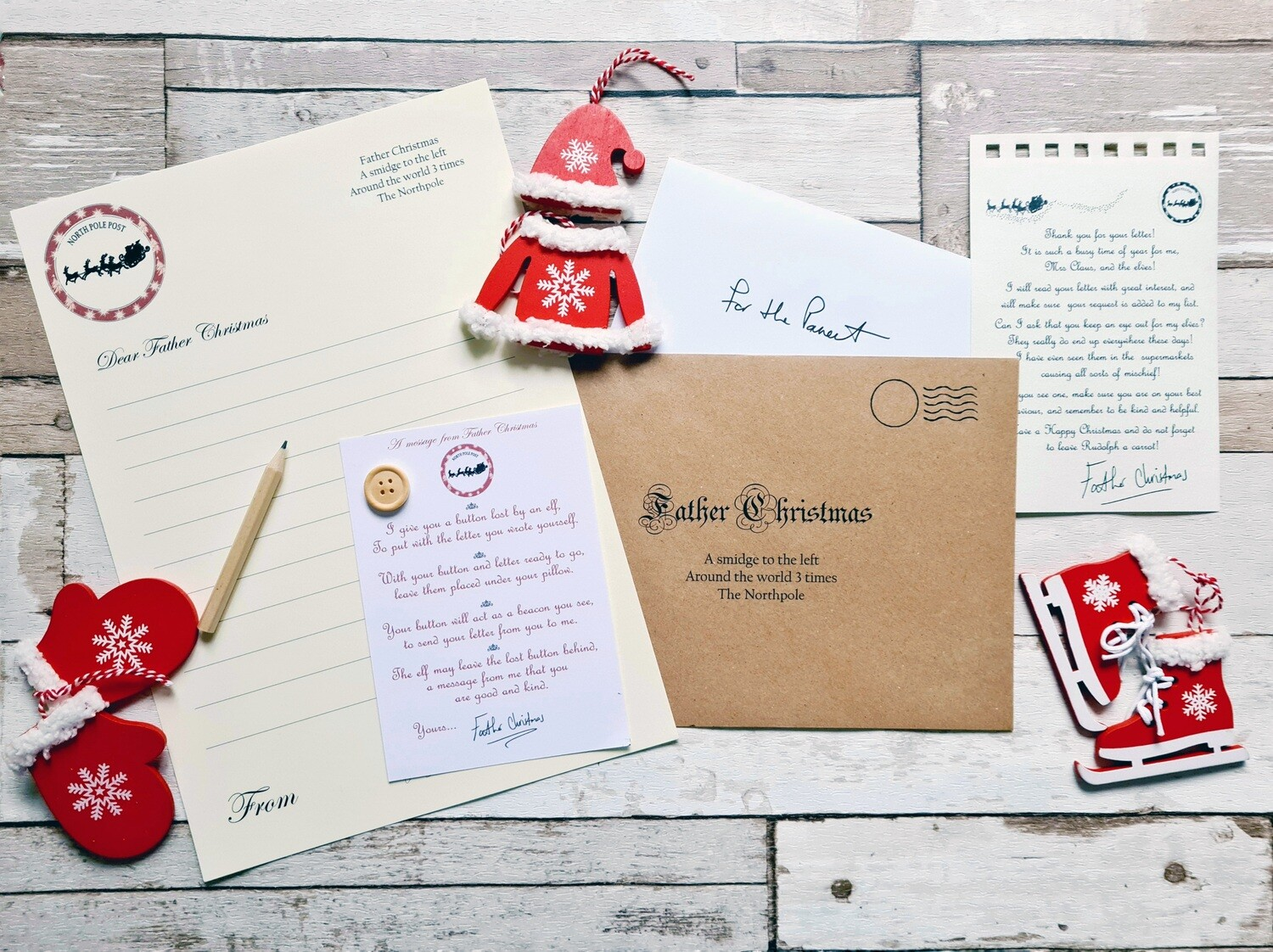 Father Christmas letter writing pack