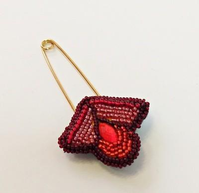 Brooch for a shawl Tulip