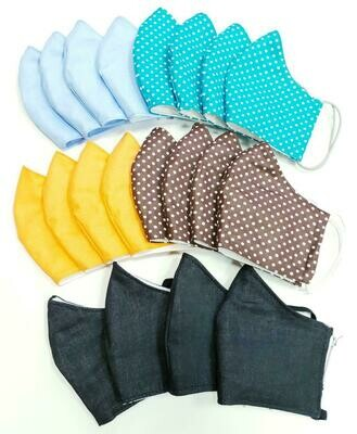 Triple-layer face mask Women, 3 pieces variety pack
