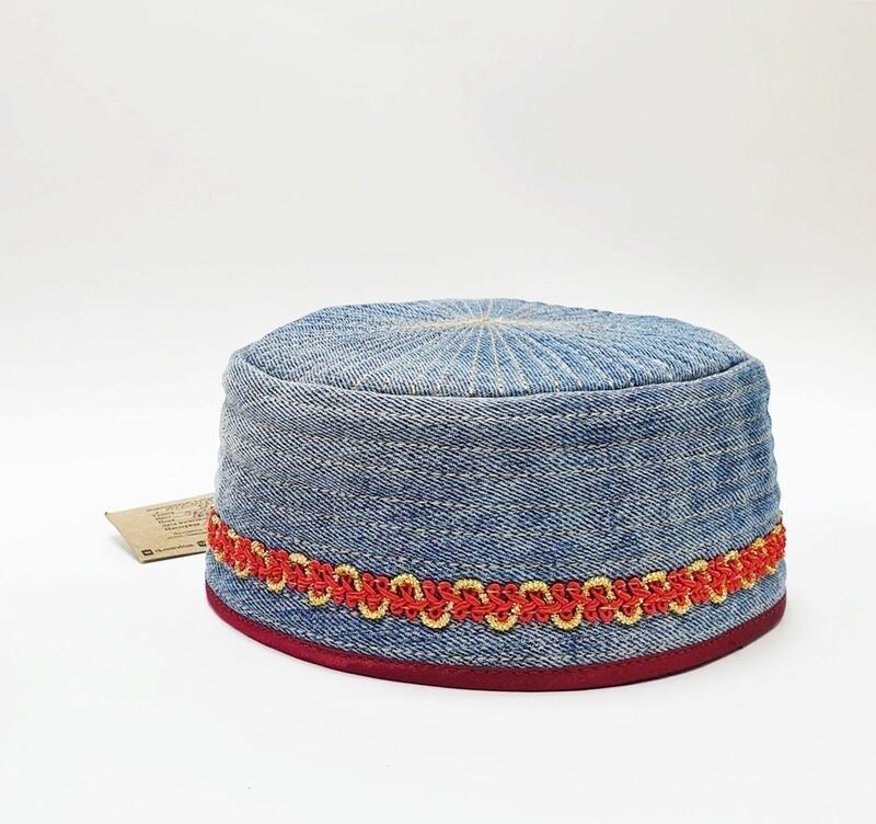Тюбетейка джинсовая