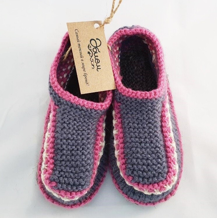 """Knit indoor slippers """"Abiem"""" adults"""