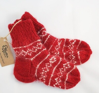 "Hand knit socks ""Onyk"", kids"