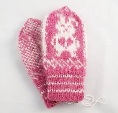 """Hand knit wool mittens """"Kuyan"""" kids"""