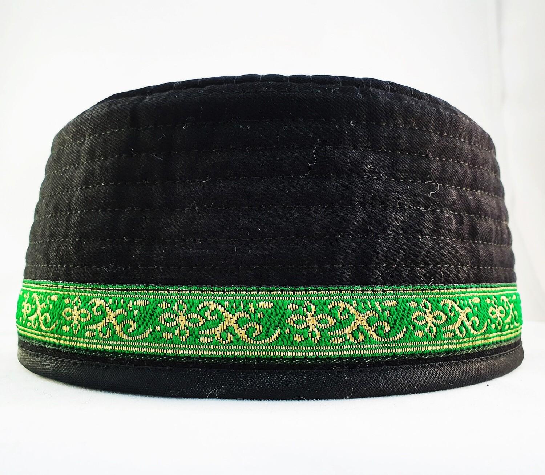 "Tubeteika (scull cap) denim ""Din"" black"