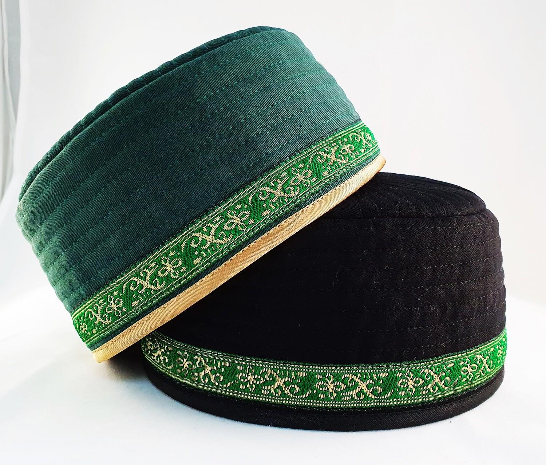 """Tubeteika (scull cap) denim """"Din"""" green"""