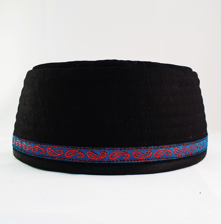 "Tubeteika (scull cap) denim ""Tuganym"" black"