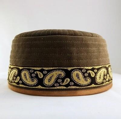 """Tubeteika (scull cap) denim """"Batyr"""" brown"""