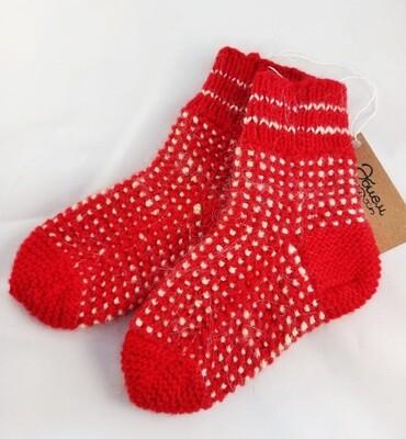 """Hand knit socks """"Basu"""", kids"""