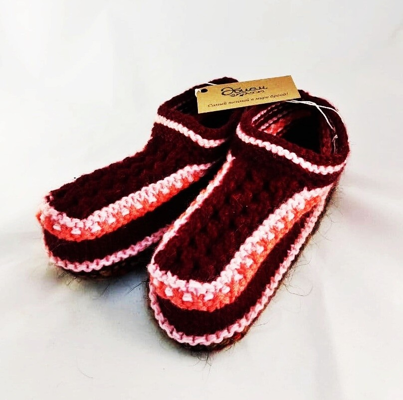 """Knit indoor slippers """"Abiem 3"""" adults"""