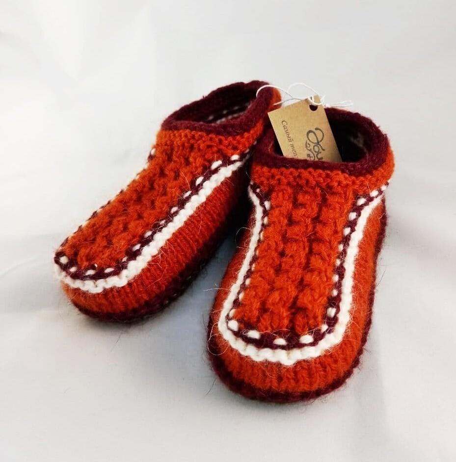"""Knit indoor slippers """"Abiem 6"""" adults"""