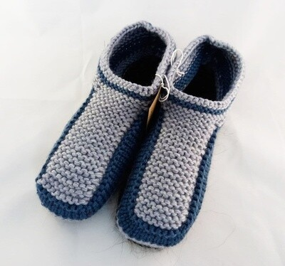 """Knit indoor slippers """"Abiem"""" adults, grey"""