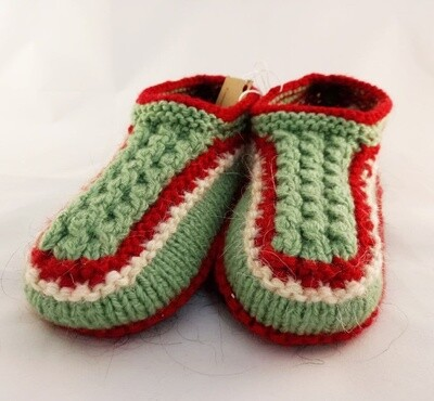 """Knit indoor slippers """"Abiem"""" adults, green"""