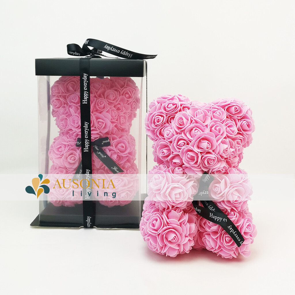 Teddy Rose Bear Rosa