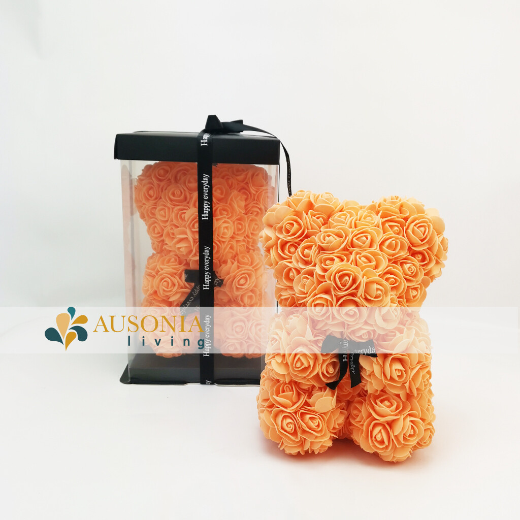 Teddy Rose Bear Arancio