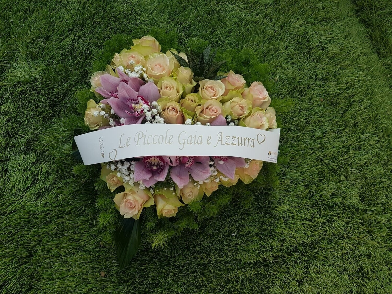 Cuore Floreale Rose e Cymbidium