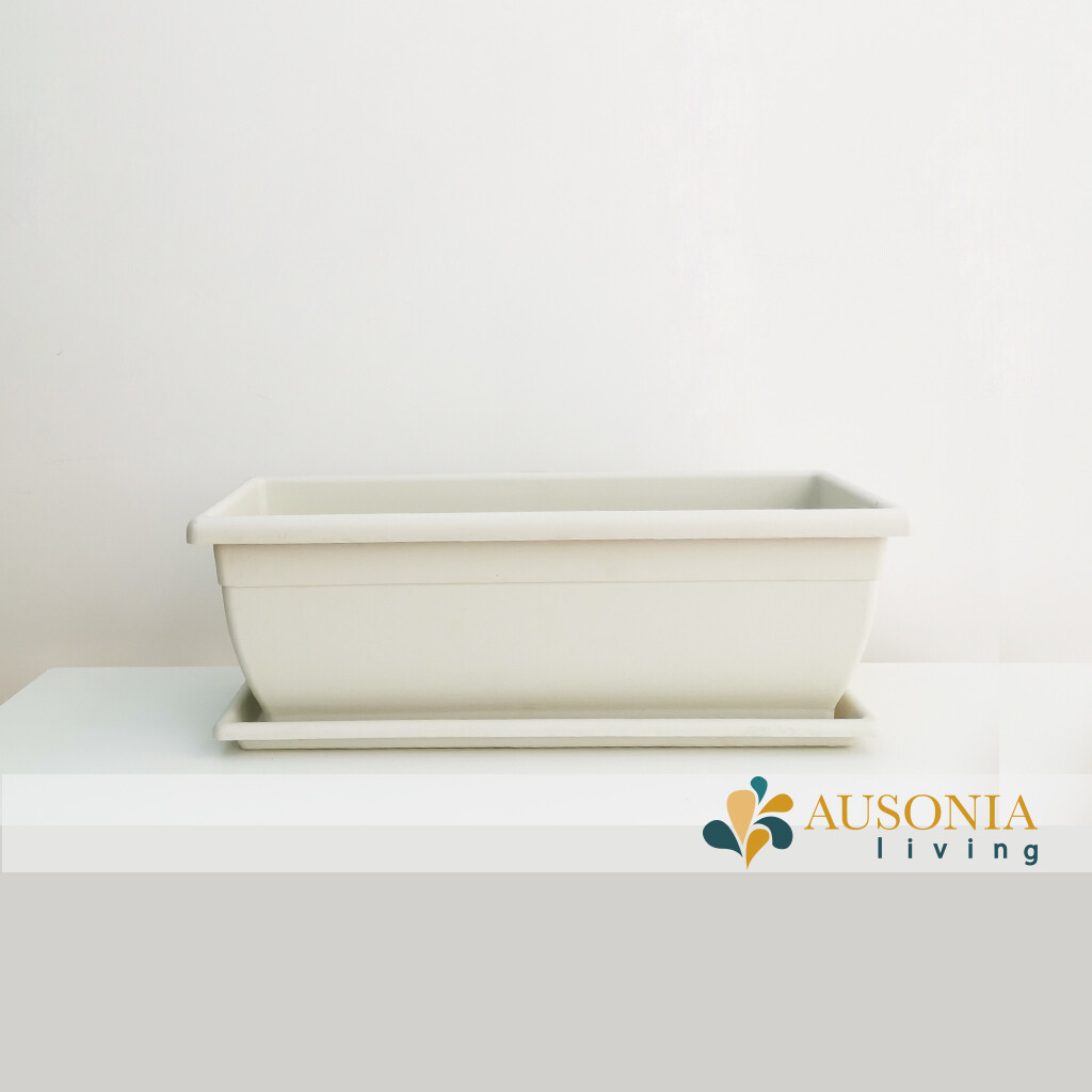 Balconetta – Fioriera per balcone Bianca 50cm