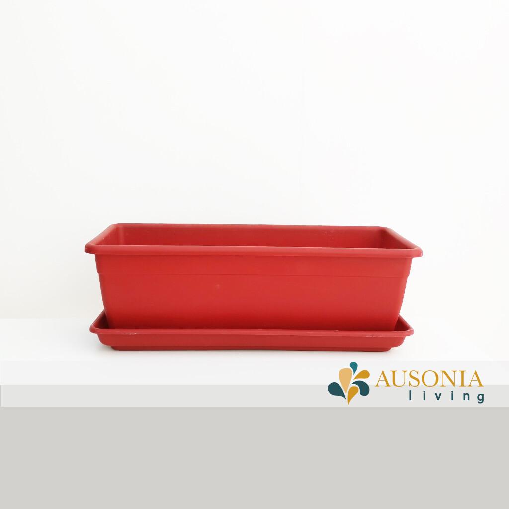Balconetta – Fioriera per balcone Rosso 50cm