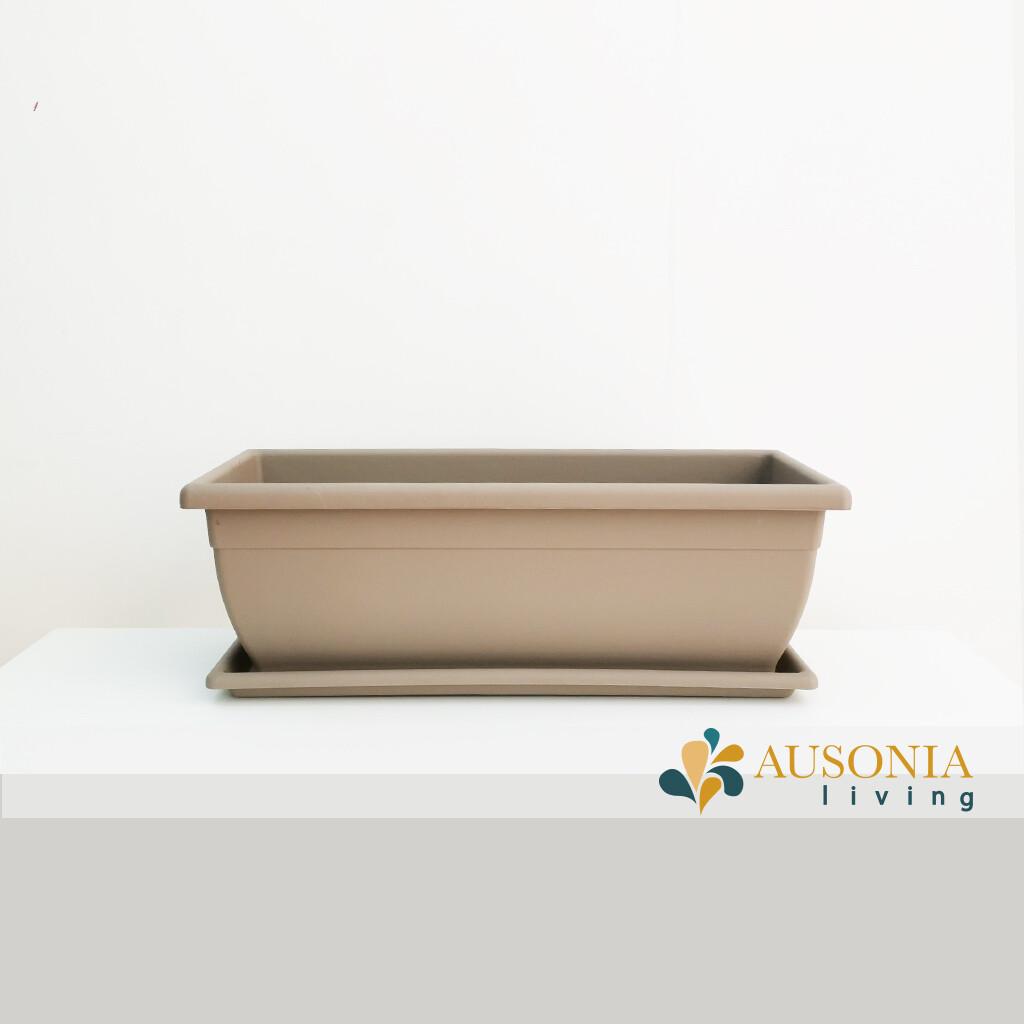 Balconetta – Fioriera per balcone Tortora 50cm
