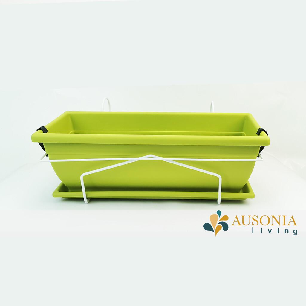 KIT  Balconetta  Verde Acido e Bianco  50cm