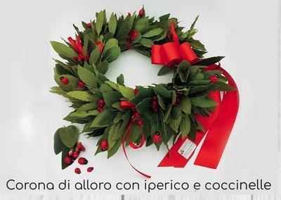 Coroncina Laurea Iperico e Coccinelle