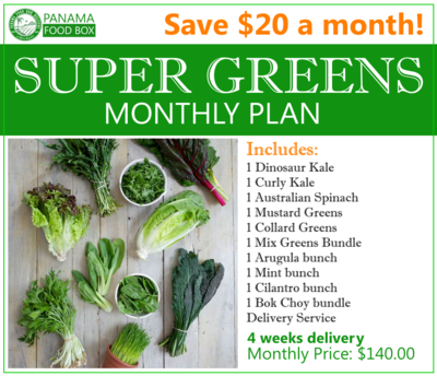 Super Greens Monthly Plan
