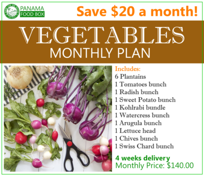 Vegetables Monthly Plan