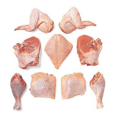 4 Lb (aprox.) Pollo Cortado Congelado - Frozen Chopped Chicken - Frango picado limpo- Poulet Haché (frhfaf)