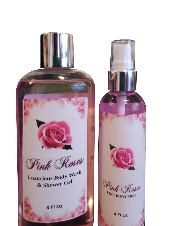 Pink Rose Bath & Body Set