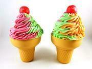 Rainbow Sherbet Ice Cream Cone Bath Bombs