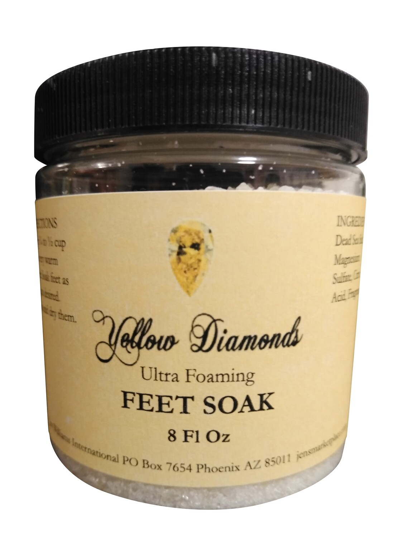 Yellow Diamonds Ultra Foaming Feet Soak