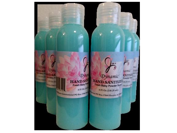 4oz Dynamic Hand Sanitizer (99.9%) Baby Powder Scent