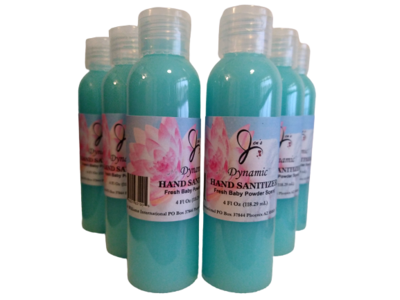 4oz Dynamic Hand Sanitizer (99.9%) Baby Powder Scent