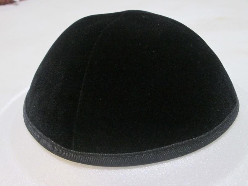 3pack Black Velvet Yarmulkas