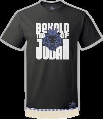 Men's Behold Lion of Judah T-shirt with fringe
