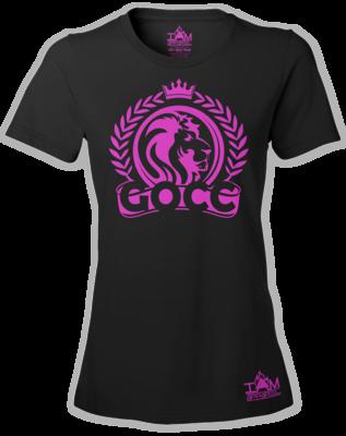 GOCC Lion Woman's  Short Sleeved T-shirt Hot Pink