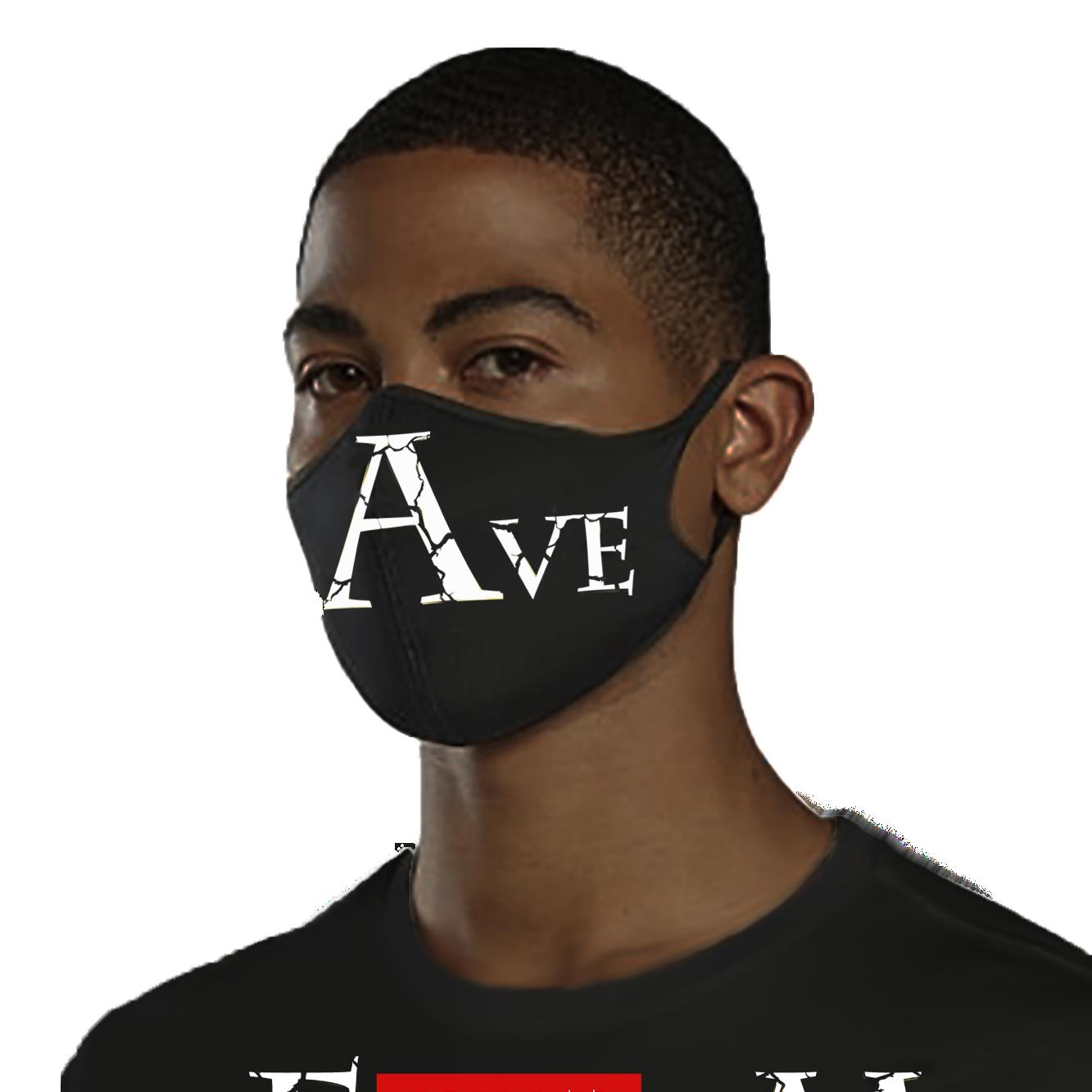 Black Unisex Protective Mask with Slave Design.