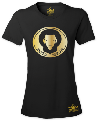 Women's GOLDEN SERIES Short Sleeved Scripture and Image of Christ T-shirt