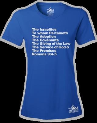 Women's Israelites Text Short Sleeved T-shirt