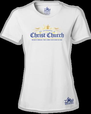 Woman's GOCC  Short Sleeved White T-shirt