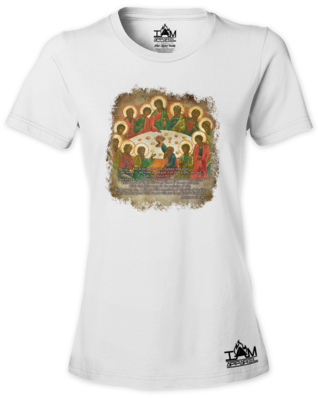 The Last Supper Woman's  Short Sleeved T-shirt