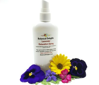 LAVENDER RELAXATION SPRAY - Your stress will melt away and be replaced with a calm, rejuvenated mind and body