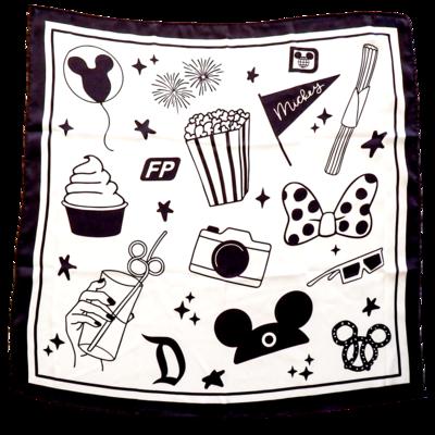 Magic Icons Silk Scarf