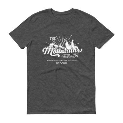 The Mountains Are Calling - Dark Heather Gray