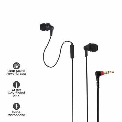 Sound One 616-P Earphones with Mic, Black